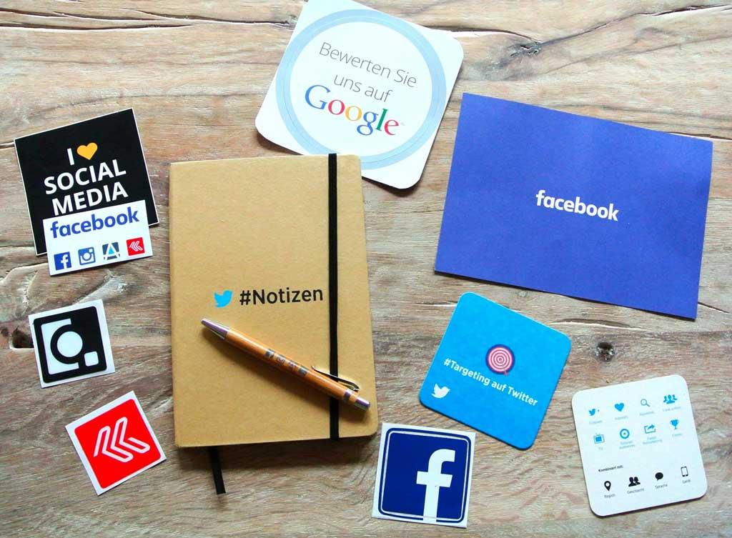 Instagram, Facebook, Google+ und Twitter