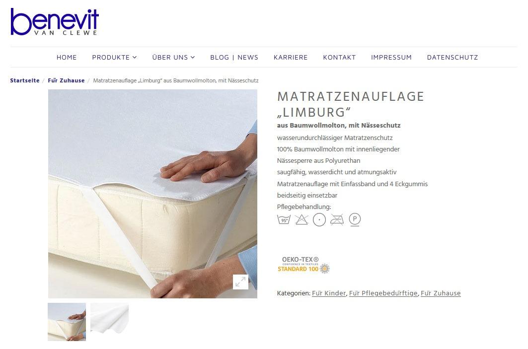 Matratzenauflagen und Inkontinenzauflagen